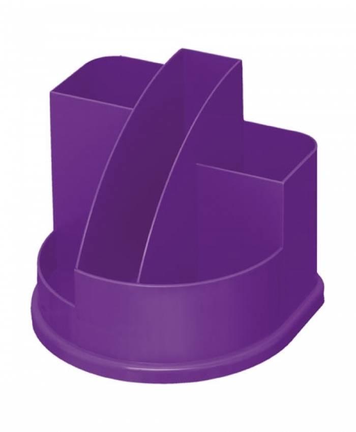 Подставка для канцелярских принадлежностей АВАНГАРД, 5 отделений фиолетовый интенсив пластик