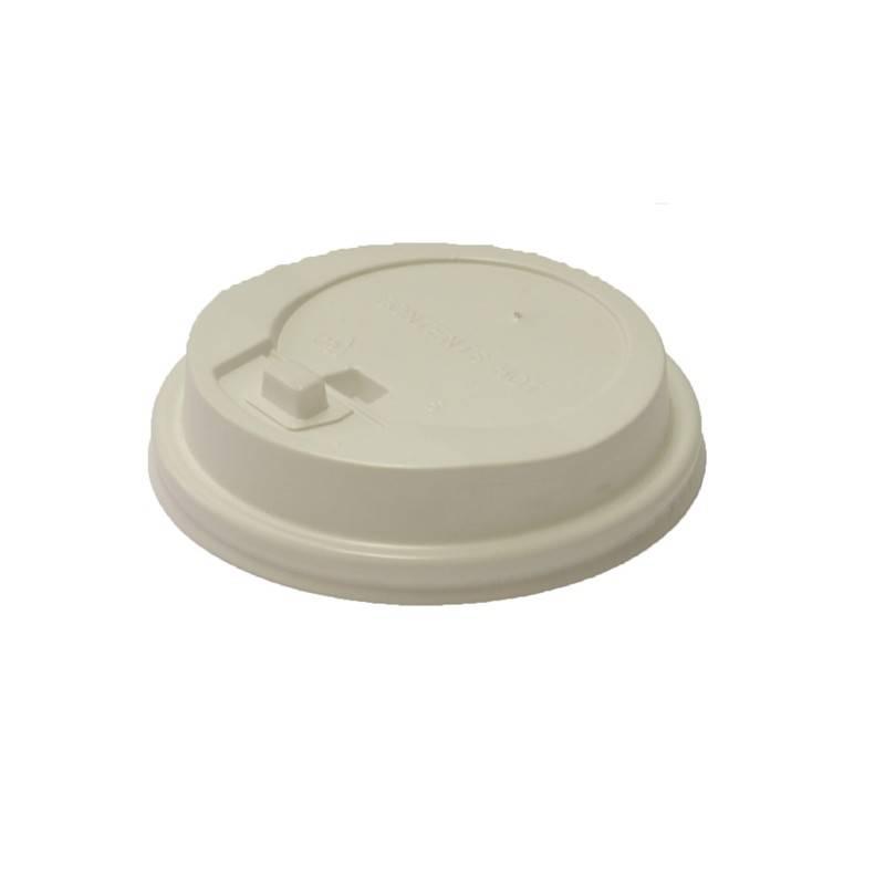 Крышка для стакана пластик с клапаном, D=90мм, белый, 100 шт