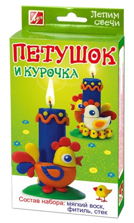 Набор для творчества лепим свечи ПЕТУШОК И КУРОЧКА