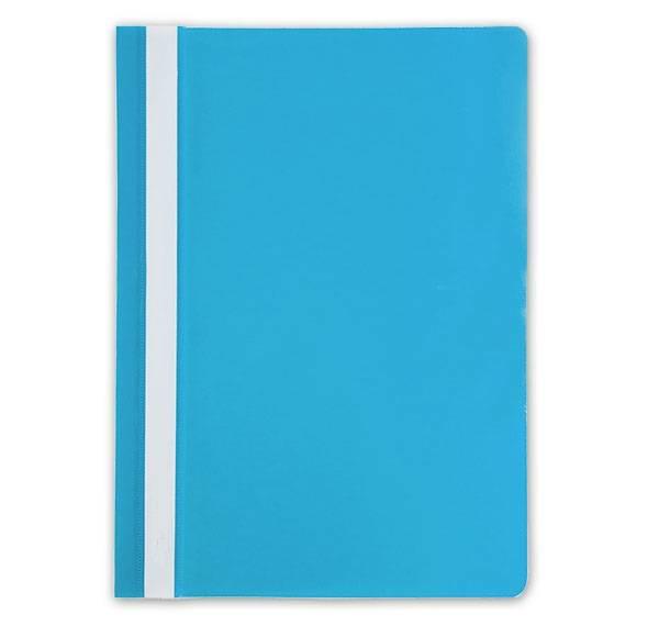 Папка-скоросшиватель LITE А4, голубая, пластик 110 мкм, карман для маркировки