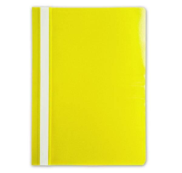 Папка-скоросшиватель LITE А4, желтая, пластик 110 мкм, карман для маркировки