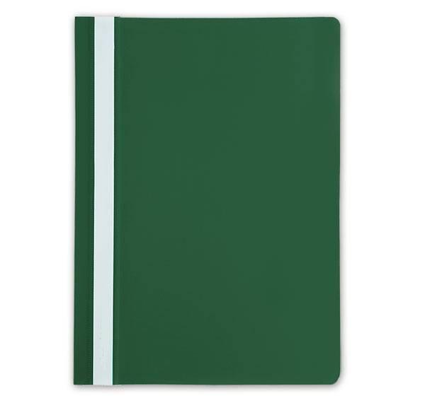 Папка-скоросшиватель LITE А4, зеленая, пластик 110 мкм, карман для маркировки
