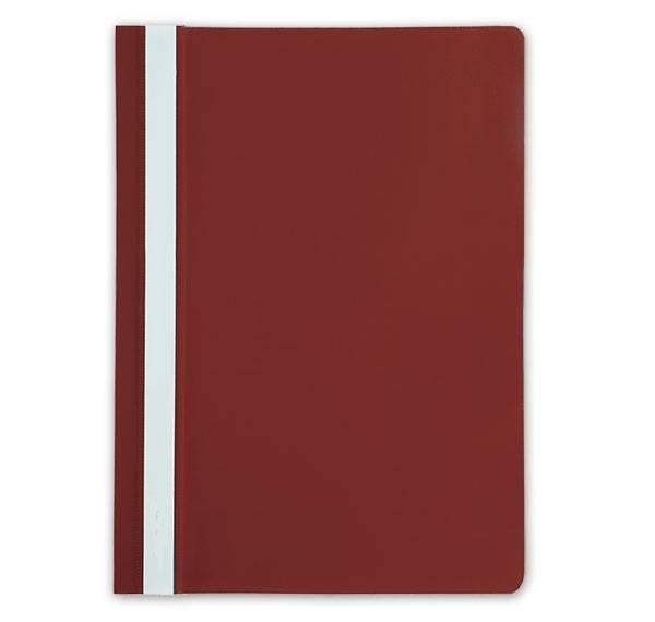 Папка-скоросшиватель LITE А4, красная, пластик 110 мкм, карман для маркировки