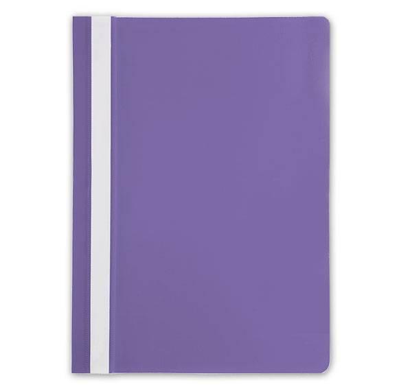 Папка-скоросшиватель LITE А4, фиолетовая, пластик 110 мкм, карман для маркировки