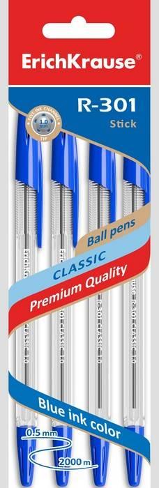 Набор шариковых ручек R-301 1 мм 3 шт синяя