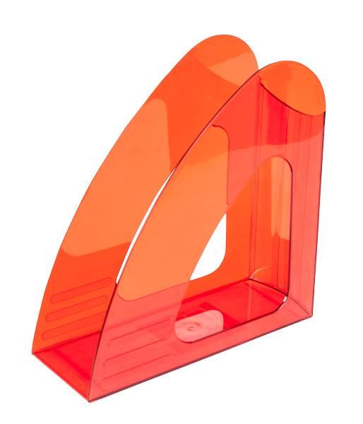Лоток вертикальный inФОРМАТ ширина 90 мм, красный пластик