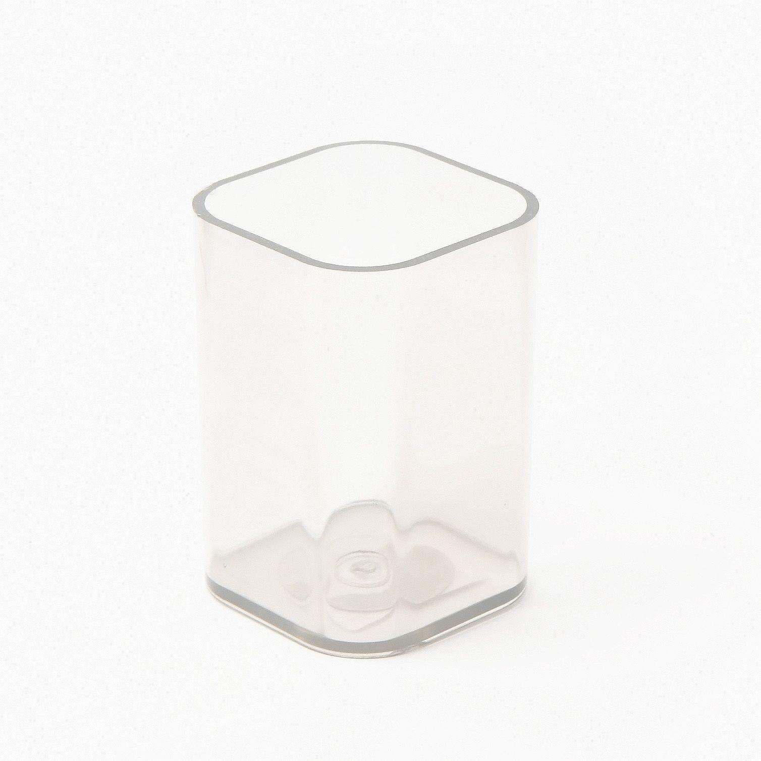 Стакан для канцтоваров, UNIPLAST, прозрачный, пластик