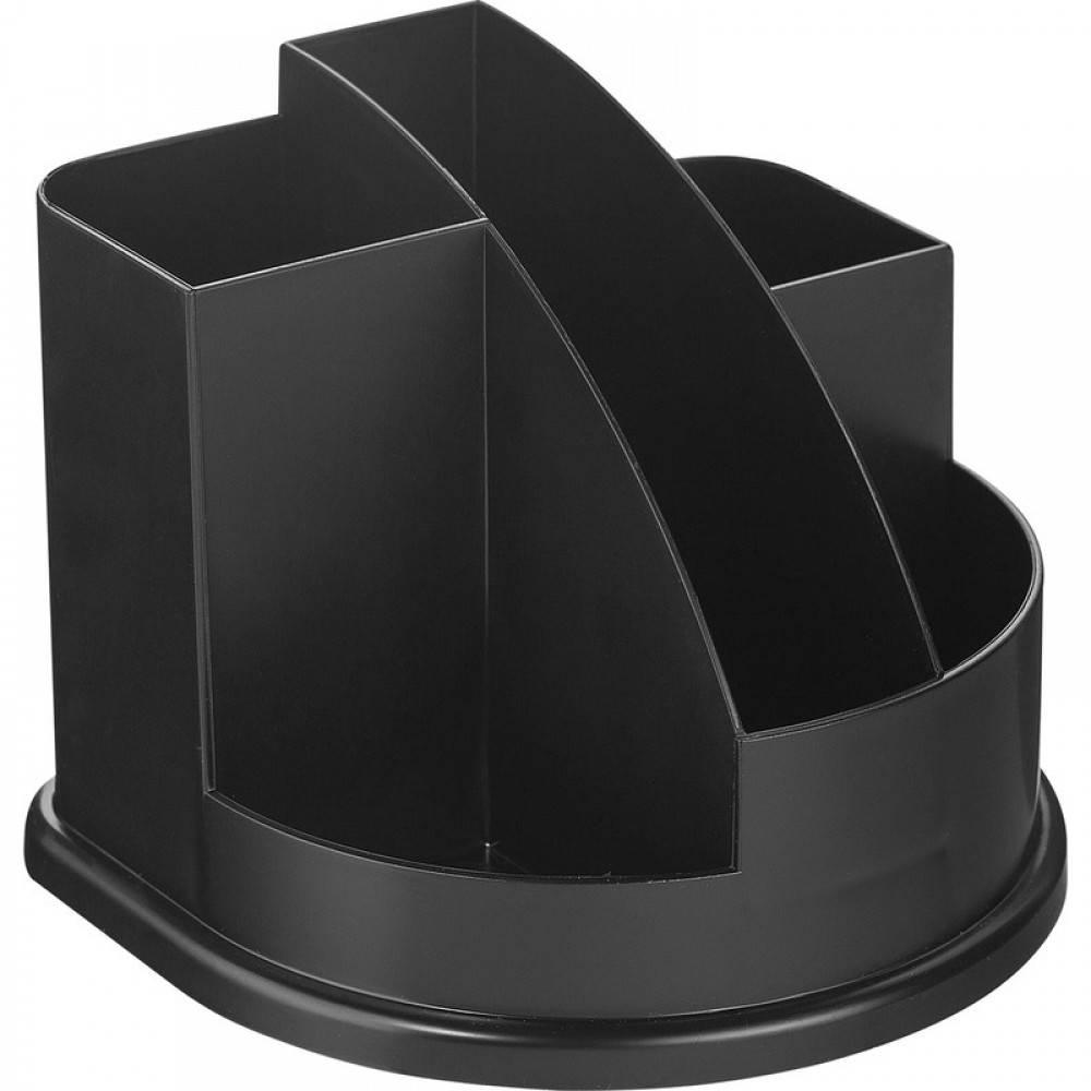 Подставка для канцелярских принадлежностей inФОРМАТ АВАНГАРД, 5 отделений черный пластик