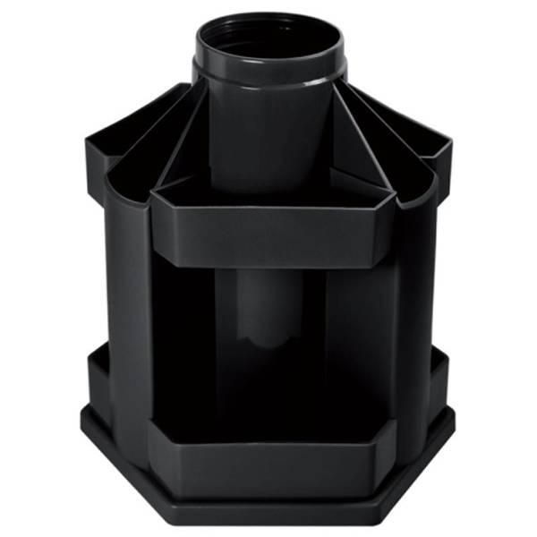 Подставка для канцелярских принадлежностей inФОРМАТ MAXI DESK, 10 отделений вращающаяся черный пластик