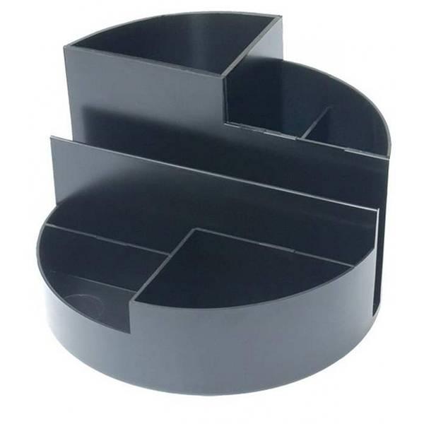 Подставка для канцелярских принадлежностей inФОРМАТ ПРОФИ, 6 отделений черный пластик