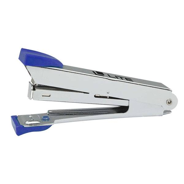 Степлер LITE №10 до 10 листов, металл, синий