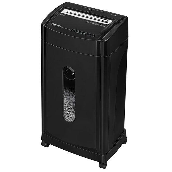 Шредер FELLOWES FS-48171 3-5 пользователей, 5 уровень серкретности, фрагмент 2х14 мм, 30 литров, 12 листов, скобы, карты, диски
