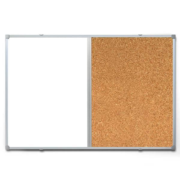 Доска комбинированная inФОРМАТ 60х90 см пробка/магнитно-маркерная лаковое покрытие, алюминевая рама