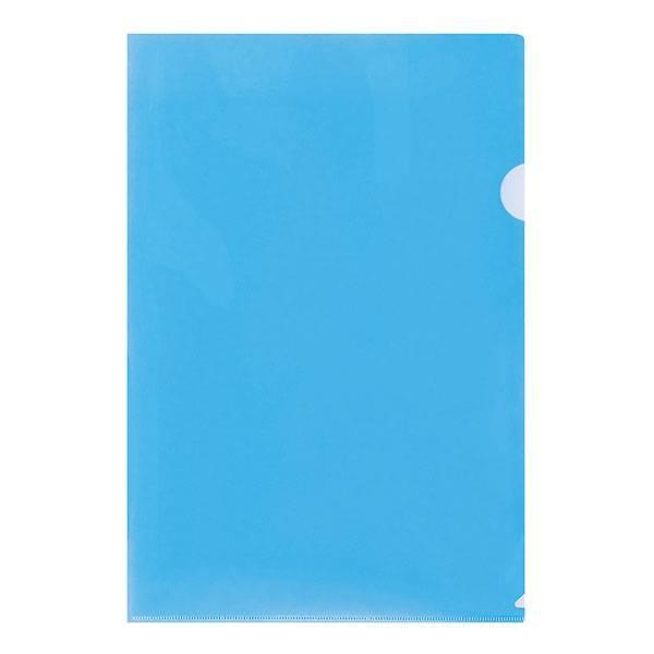 Папка-уголок LITE А4, прозрачный пластик 100 мкм, синяя