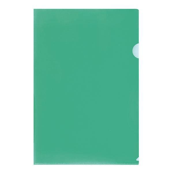 Папка-уголок LITE А4, прозрачный пластик 100 мкм, зеленая
