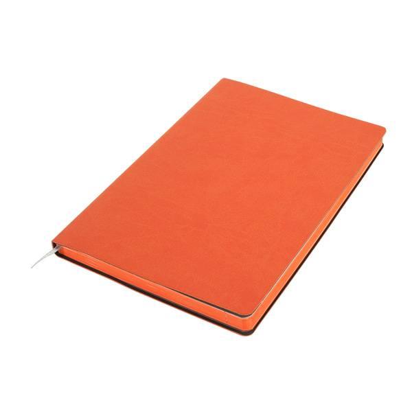 Бизнес-блокнот подарочный А5 128 листов GF Colors оранжевый, ляссе, внутренний карман, отрывной уголок
