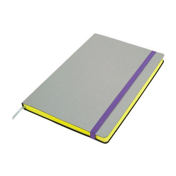 Бизнес-блокнот подарочный А5 128 листов GF Delight серебро, ляссе, внутренний карман, отрывной уголок