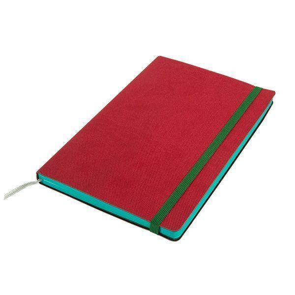 Бизнес-блокнот подарочный А5 128 листов GF Delight красный, ляссе, внутренний карман, отрывной уголок