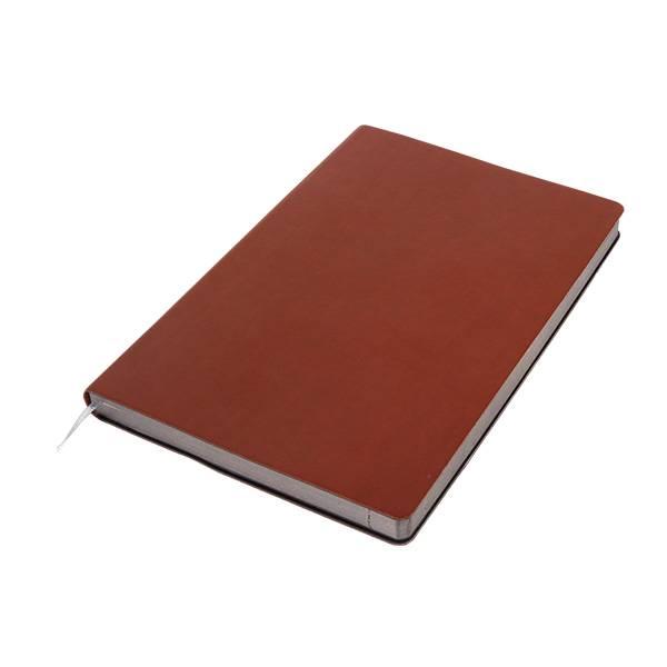 Бизнес-блокнот подарочный А5 128 листов GF Elite коричневый, ляссе, внутренний карман, отрывной уголок