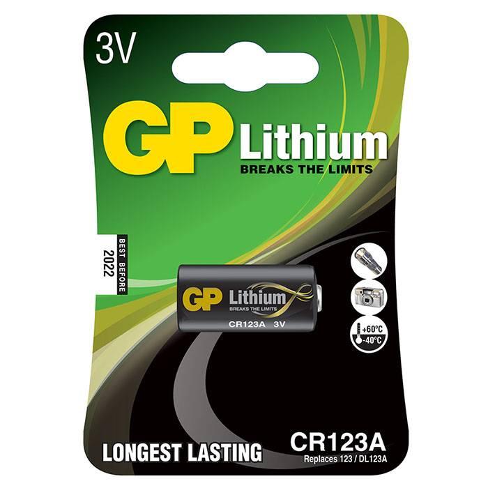 Батарейка GP CR123 литий-ионная 3 V, блистер