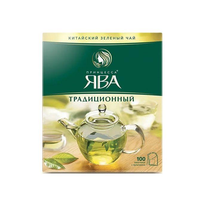 Принцесса Ява Традиционный чай зеленый в пакетиках 100 шт