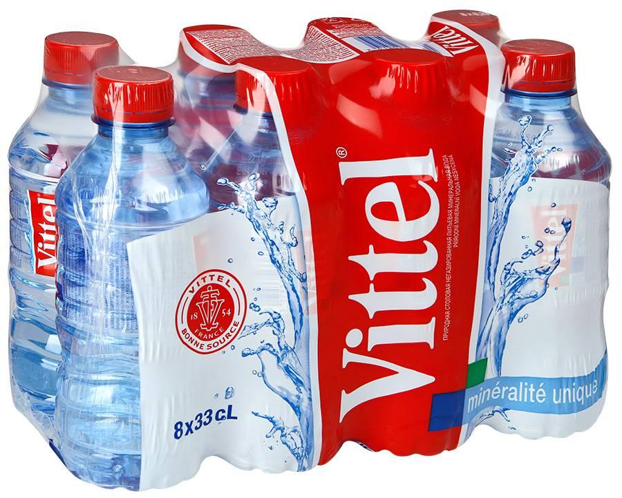 Вода питьевая негазированная VITTEL 0,33 л в пластиковой бутылке