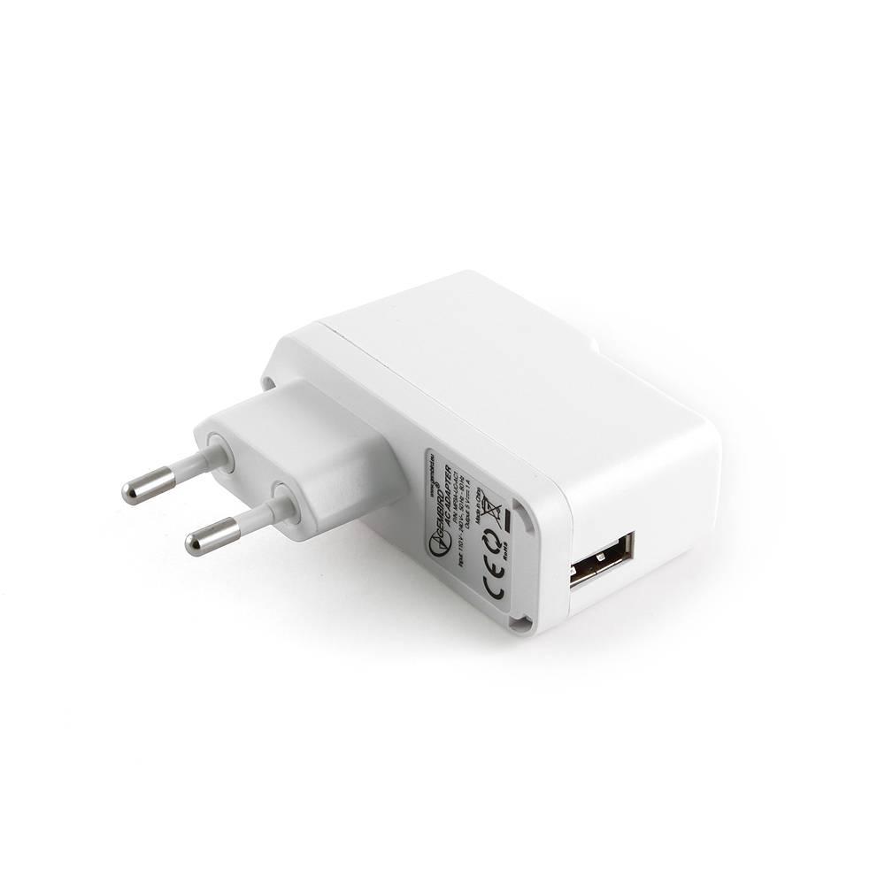 Адаптер питания Gembird MP3A-UC-AC1 220V-5V USB A белый