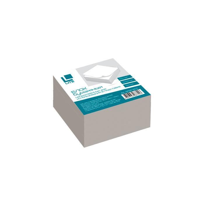 Блок для записей непроклеенный LITE КУБ 90х90х50 мм, белый (белизна 70-80%)