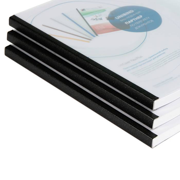 Обложка для переплета, UNIBIND UniCover Flex размер 60, прозрачный, матовый, кварц корешок, комбинированный