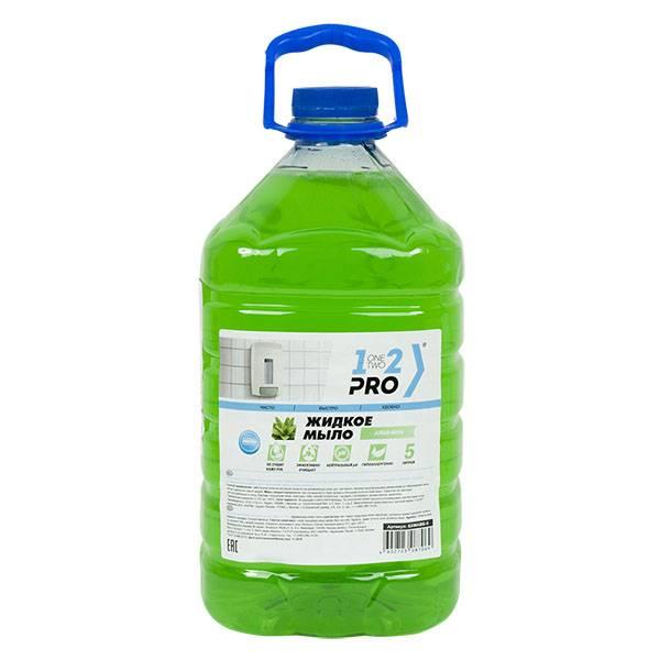 Жидкое мыло 1-2-Pro Алоэ Вера Эконом 5 л, бутыль (ПЭТ)