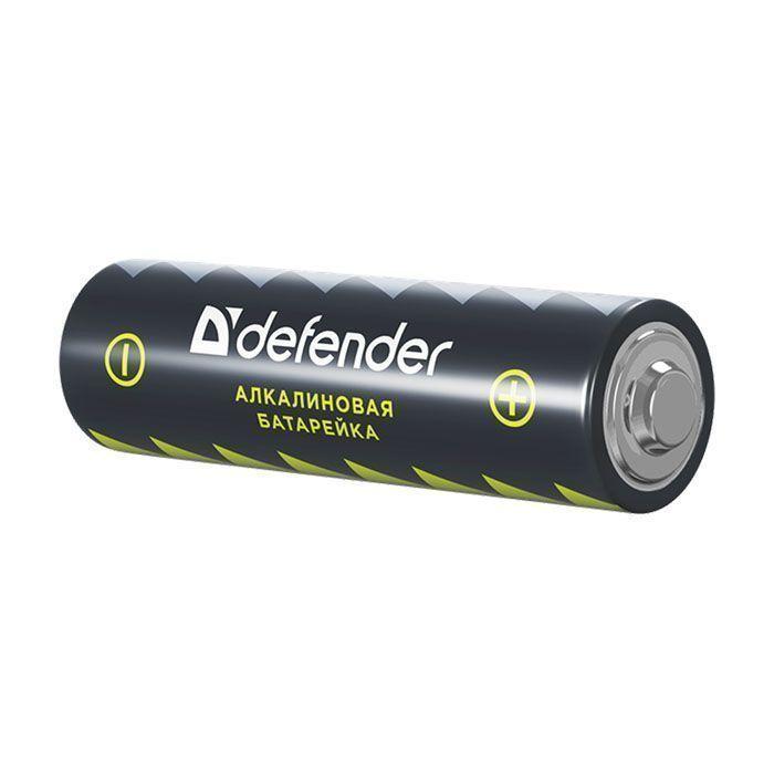 Батарейки DEFENDER LR6-2B AA алкалиновые 1,5 V блистер