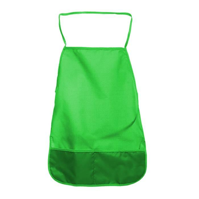 Фартук для труда Creativiki ткань, однотонный зеленый 3+