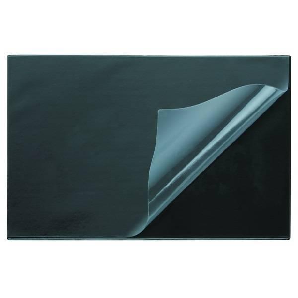 Подкладка для письма, ДПС, 38х59 см, прозрачный верхний слой, черный пластик