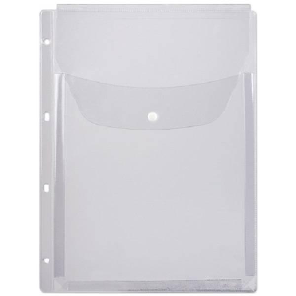 Файл ДПС А4+ 180 мкм 250 листов «апельсиновая корка» с кнопкой, 4 отверстия