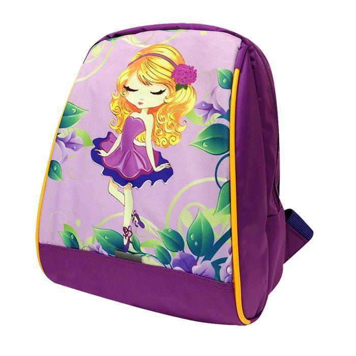 Рюкзак для дошкольника ФУНТИК ДЕВОЧКА, 26х20х13 см, фиолетовый, мягкая спинка