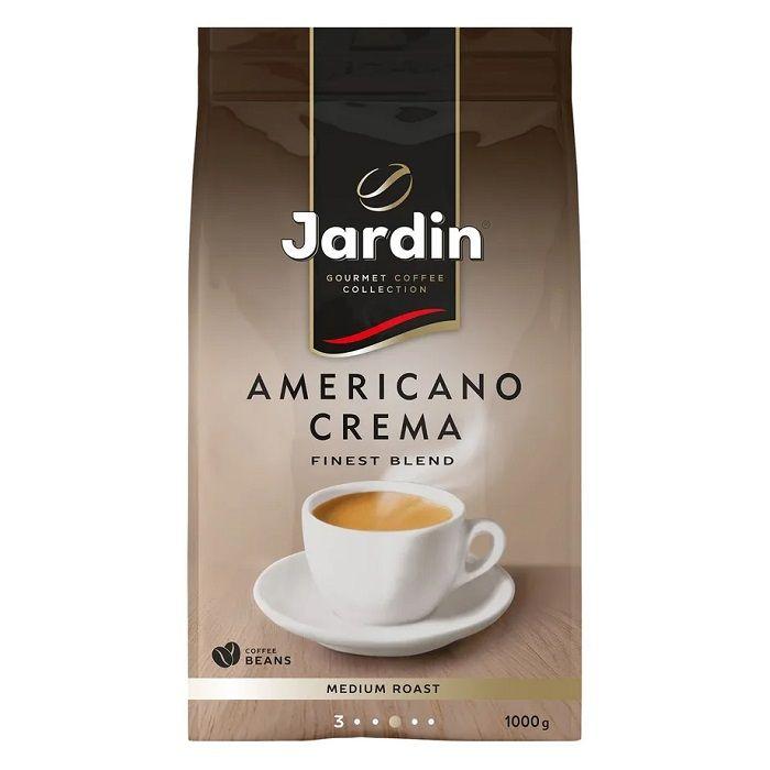 Jardin Americano Crema Кофе в зернах арабика/робуста в мягкой упаковке с клапаном 1 кг бестселлер