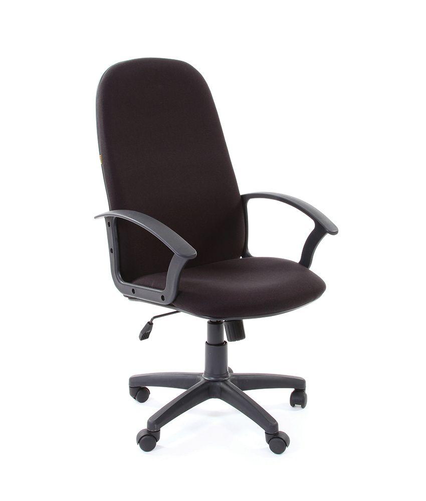 Кресло CHAIRMAN 289 NEW черное, крестовина и подлокотники пластик, обивка ткань