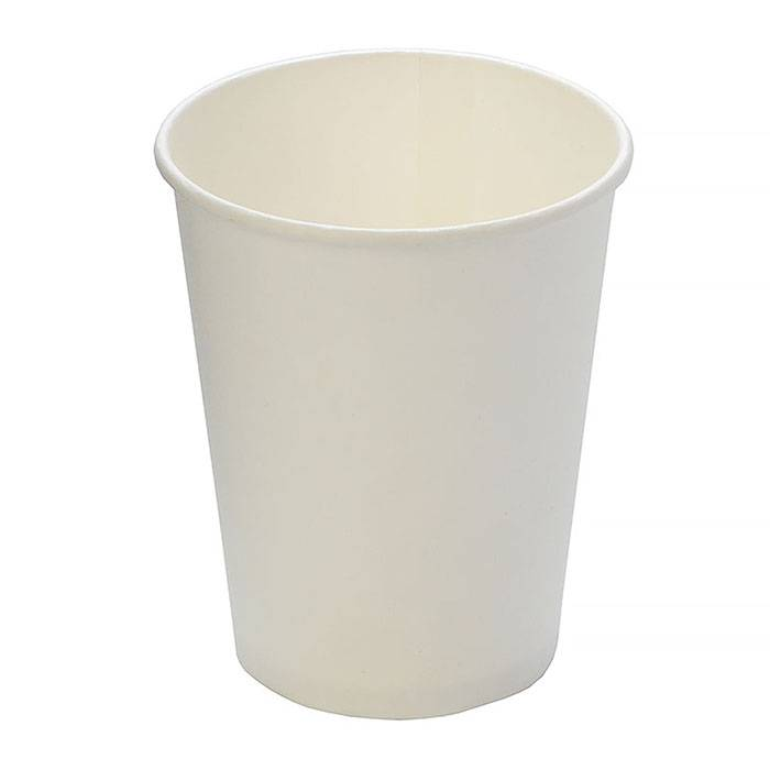 Стакан одноразовый холодное/горячее, 250/273 мл, картон белый, 50шт, d80мм, h92мм