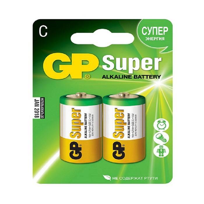 Батарейка GP SUPER С LR14 алкалиновая 1,5 V, блистер