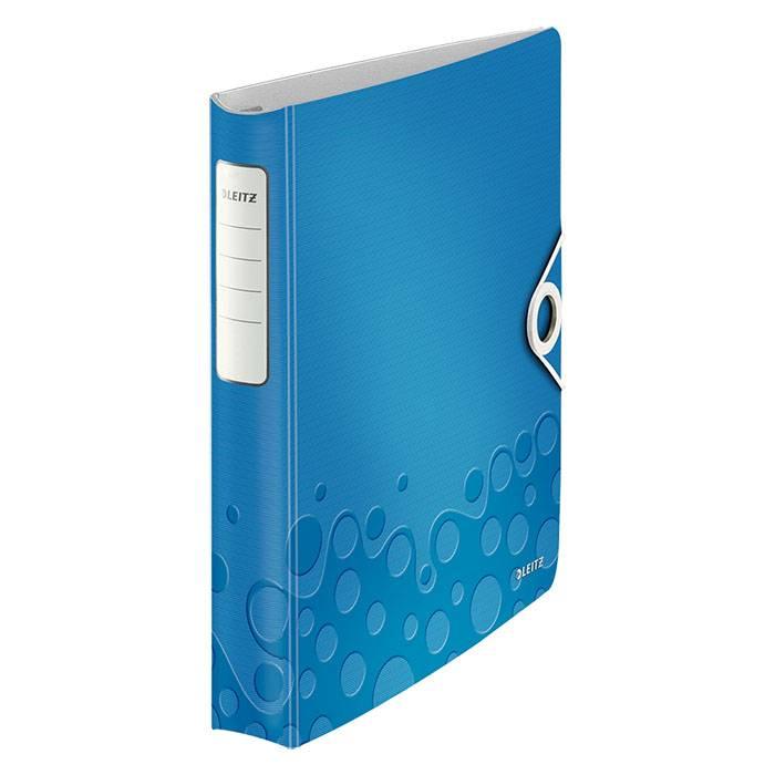 Папка с кольцами LEITZ ACTIVE WOW А4, 4 кольца, 52 мм, пластик 2800 мкм, синяя
