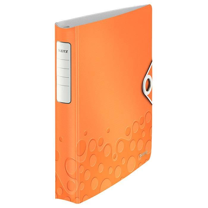 Папка с кольцами LEITZ ACTIVE WOW А4, 4 кольца, 52 мм, пластик 2800 мкм, оранжевая