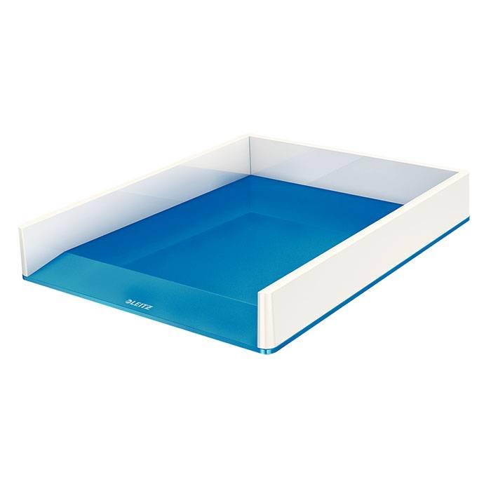 Лоток горизонтальный LEITZ WOW бело-синий полистирол