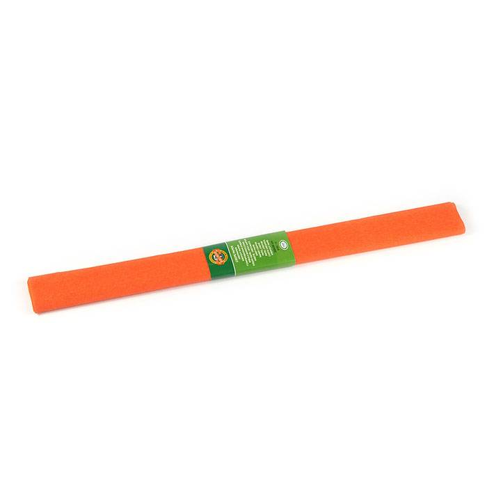 Бумага цветная крепированная KOH-I-NOOR оранжевая 50х200 см, 32 г/м2 в рулоне