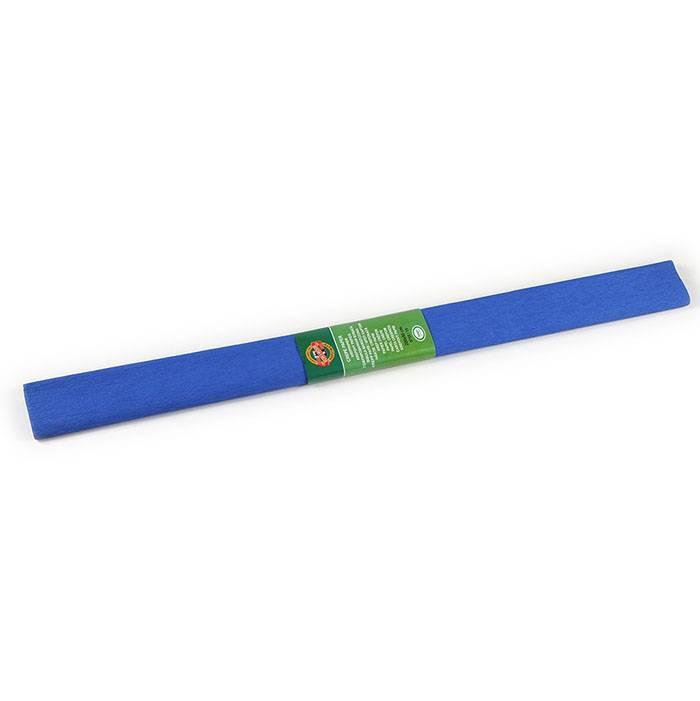 Бумага цветная крепированная KOH-I-NOOR синяя 50х200 см, 32 г/м2 в рулоне