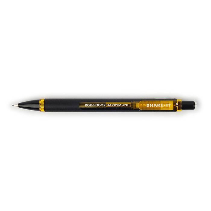 Карандаш мех. KOH-I-NOOR SHAKE IT 0,5 мм черно-желтый c ластиком