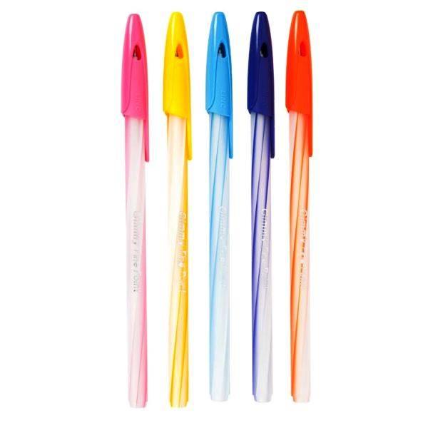 Ручка шариковая одноразовая LINC GIMY, 0,6 мм, синий, круглый корпус
