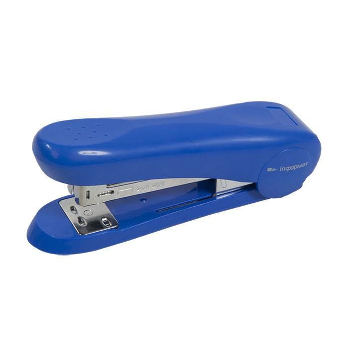 Степлер INFORMAT Best №24/6-26/6 до 30 листов, пластик, синий