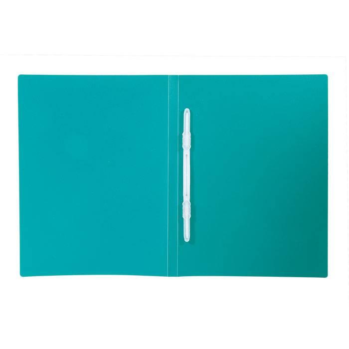 Папка-скоросшиватель LITE А4 зеленая пластик 500 мкм пластиковый механизм