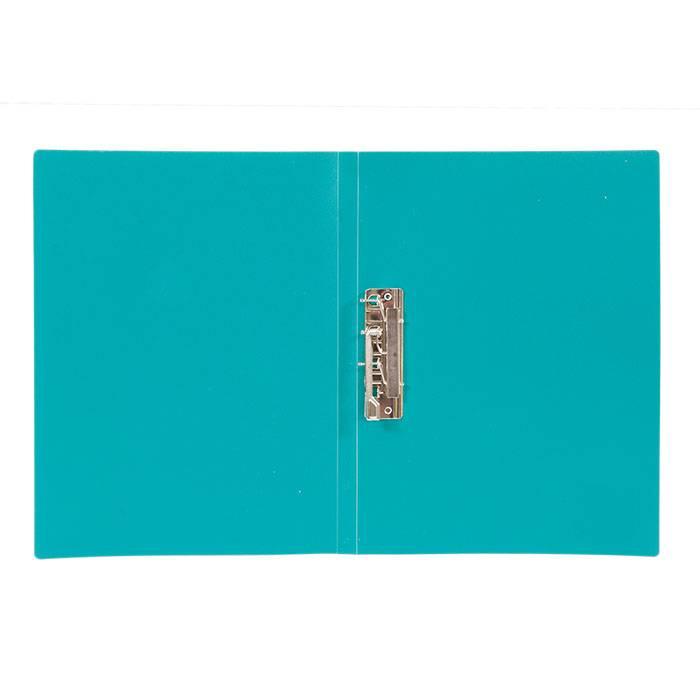 Папка с прижимами LITE А4 зеленая пластик 500 мкм