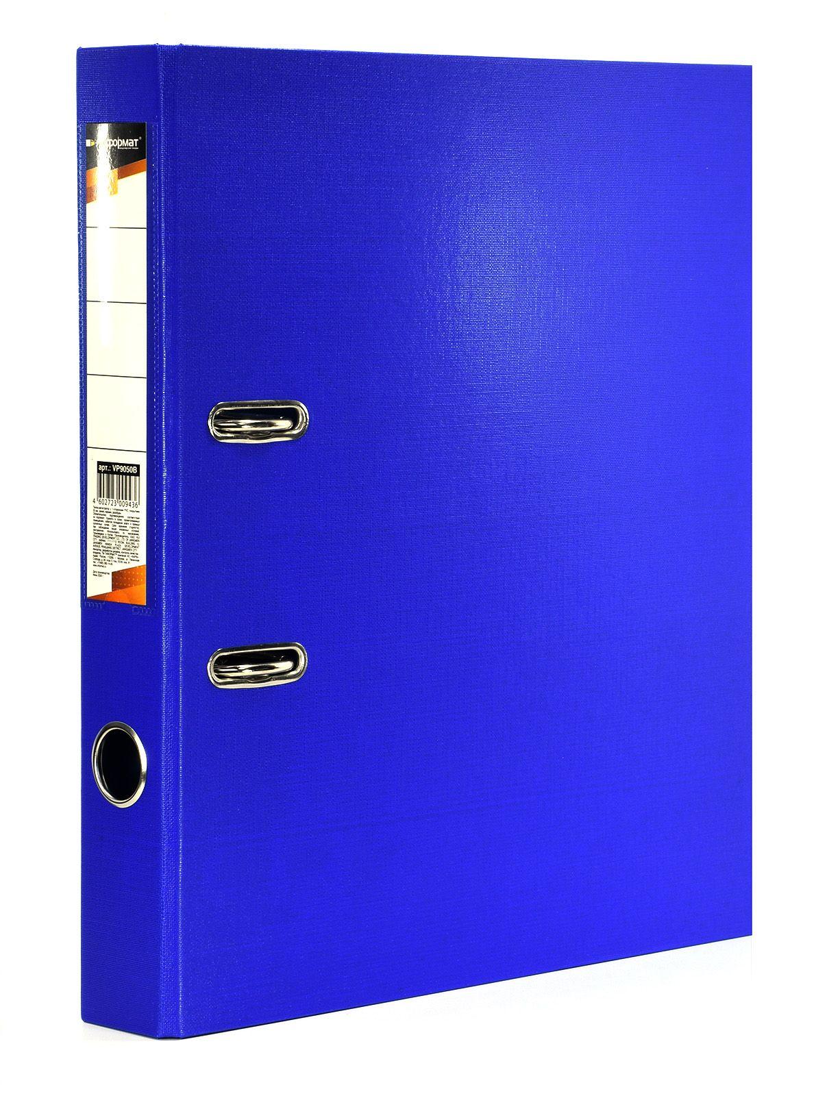 Папка-регистратор INFORMAT 55 мм одностороннее покрытие PVC, синяя